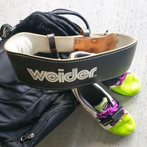 Weightlifting belt   WEIDER leather belt